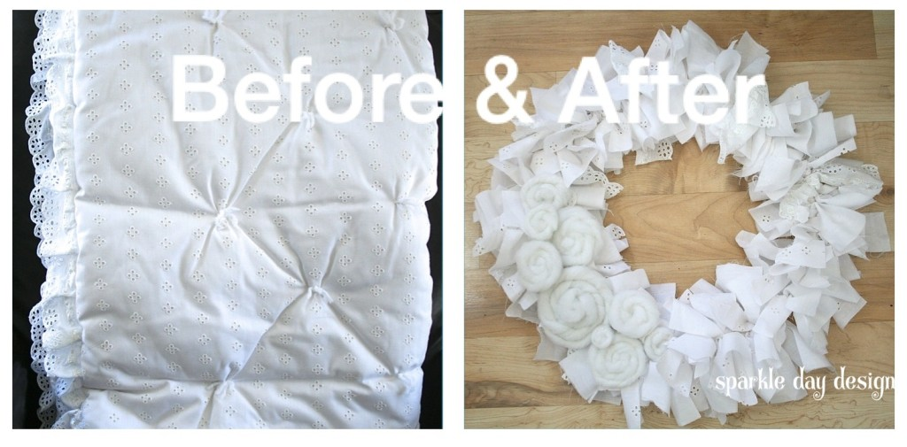 Before & After Baby Quilt Wreath