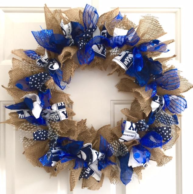 BYU Wreath